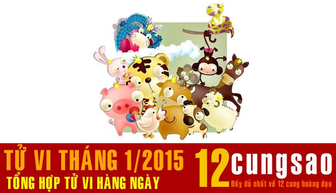 Tổng hợp Tử vi hàng ngày 12 Con Giáp - Tháng 1/2015