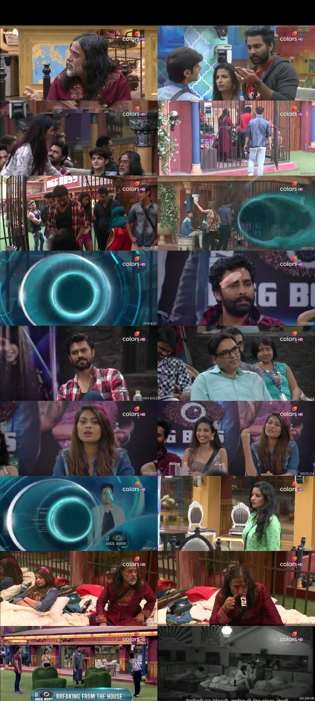 Screenshots Of Hindi Show Bigg Boss 10 8th December 2016 Episode 54 300MB 480P HD