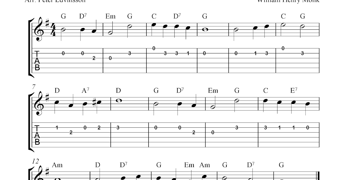 Abide With Me Guitar Chords