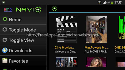 amo Navi-X Free Apps 4 Android