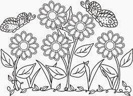 Mewarnai gambar bunga dan kupu-kupu untuk anak 6