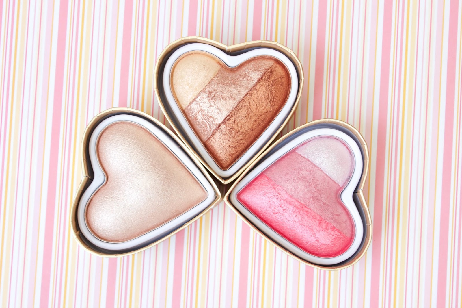Makeup Revolution Triple Baked Highlighter, Bronzer & Blusher