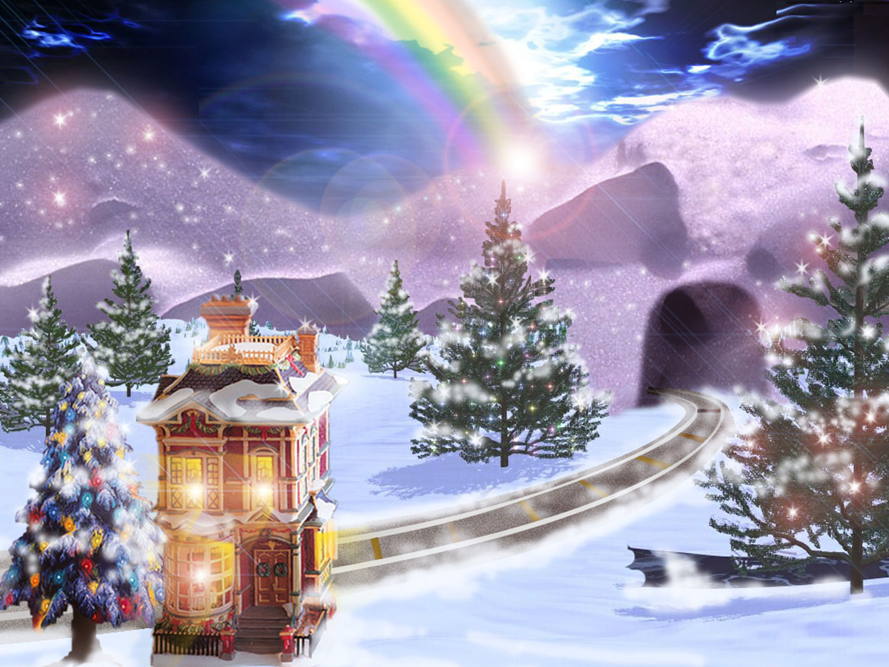 Animated christmas wallpapers Fashions For All 3