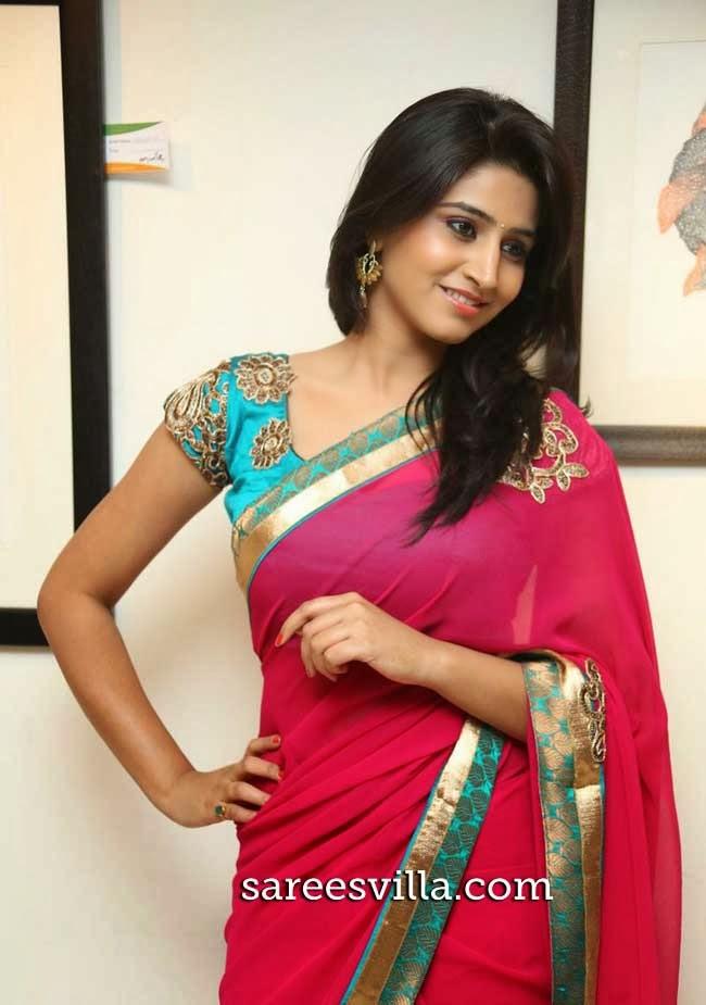 Model Shamili in Pink Saree