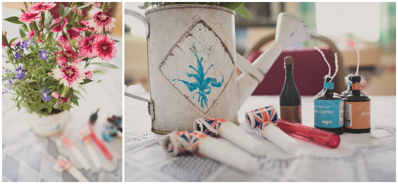 vintage vases and 1940s style decorations