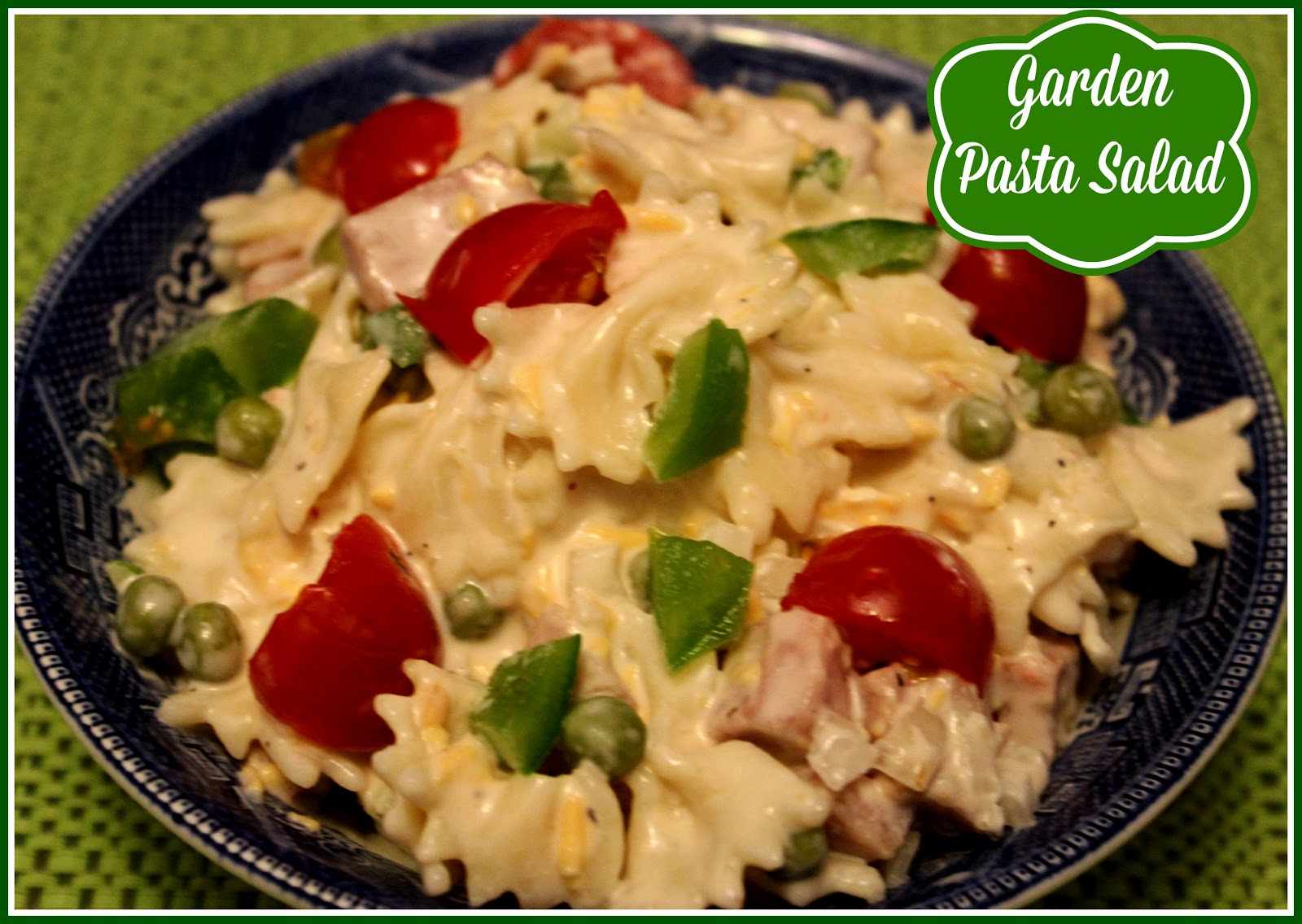 Sweet Tea and Cornbread: Garden Pasta Salad!