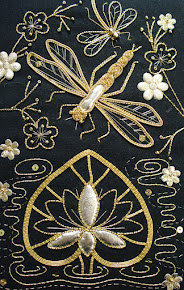 Another of my passions is Gold work and metal work. Below shows Dragonfly Gold work