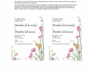 Tarjeta de Invitación de boda, modelos, plantillas, formatos ejemplos, Word