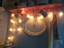 Fairy lights in the kitchen