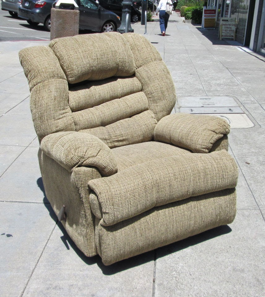 Furniture Donation Free Pick Up Calgary: Tan Recliner