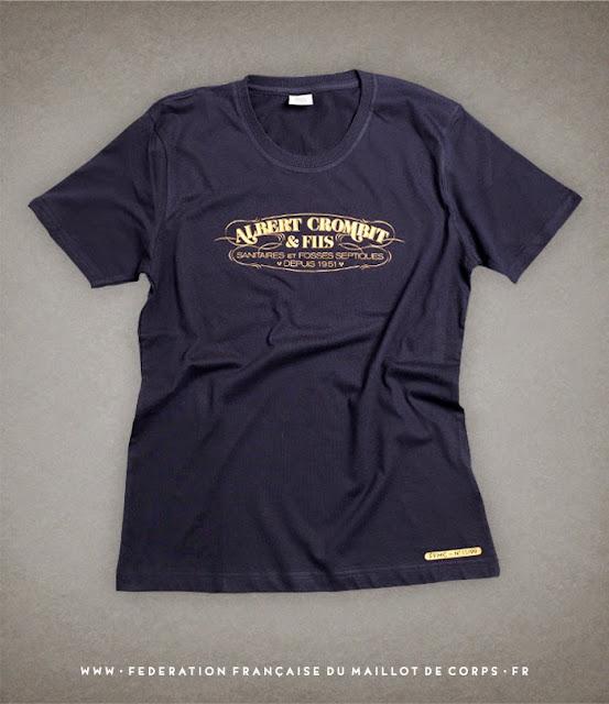 ©Federation Francaise du Maillot de Corps t-shirt ALBERT CROMBIT & FILS