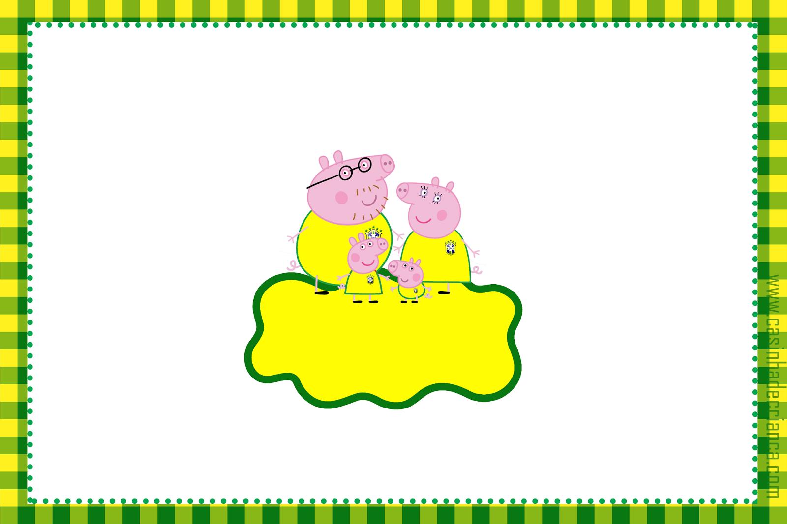 convite Peppa Pig na Copa Para Imprimir Grátis