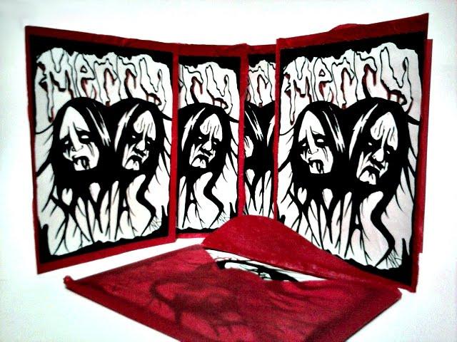 Ghetto bento black metal christmas cards bcfe card