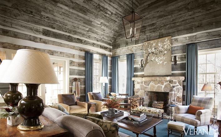 Home tour- A rustic and refined Tennessee log cabin!