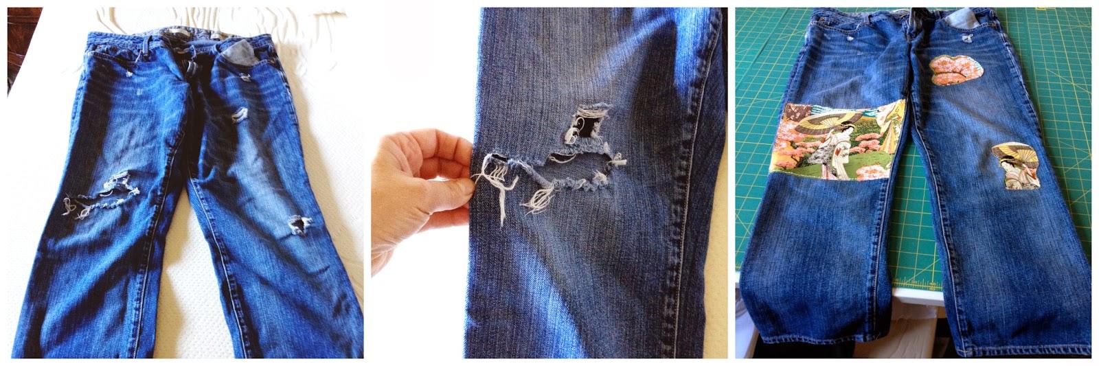 Декоративные заплатки на джинсы своими руками 43