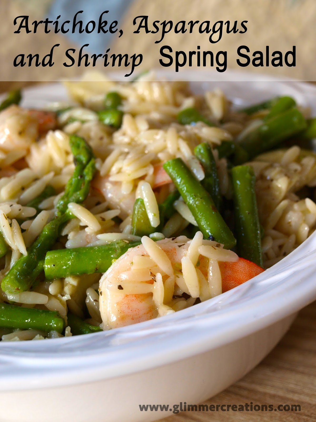 Glimmer Creations: Artichoke, Asparagus and Shrimp Salad ...