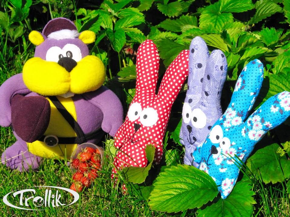 мягкие игрушки своими руками зайцы и авторский хомяк