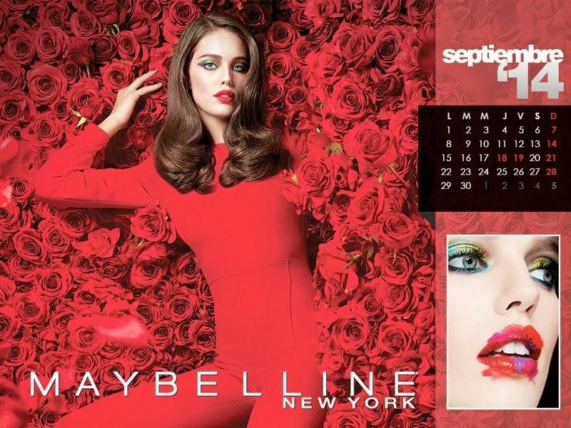 Maybelline Calendar 2014 Emily DiDonato, Erin Wasson, Julia Stegner,  Jessica White, Kemp Muhl, Charlotte Free,  Daniela de Jesus, Shu Pei and Frida Gustavsson.