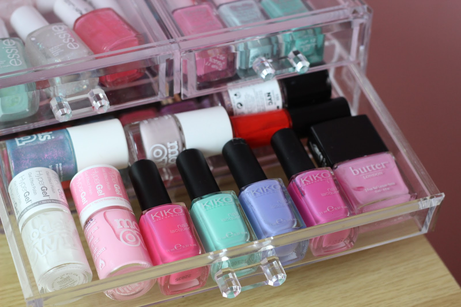 how i store nail polishes