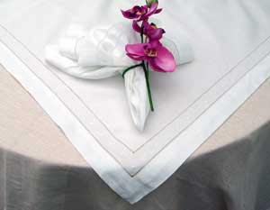 Swiss Dot Table Linens