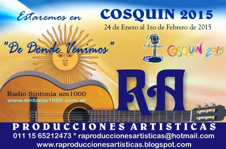 RA Producciones Artisticas en COSQUIN 2015!!