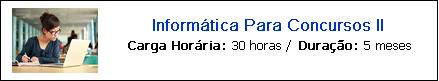 INFORMÁTICA PARA CONCURSOS II