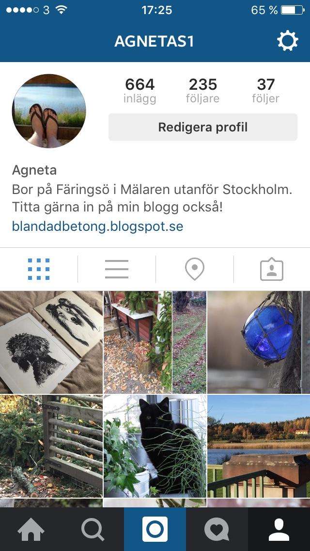 Klicka på Instagramsymbolen ovan