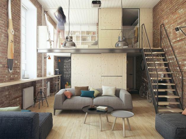 Projects] 36 m² en ladrillo visto y a dos alturas – virlova style