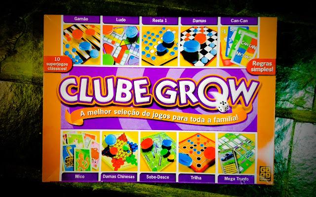 Imagem do kit de jogos de tabuleiro Clube Grow