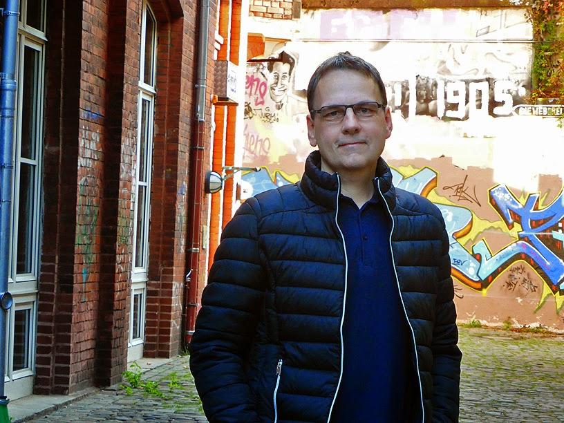 Johan Tronestam à la Weberei de Gütersloh, Electronic Circus 2014 / photo S. Mazars