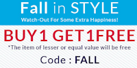 Buy 1 Get 1 Free on Fashion & Accessories