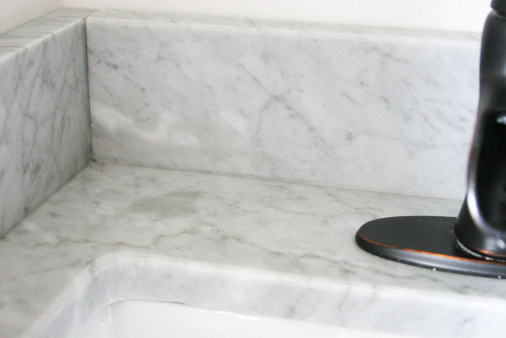 how to clean soap stains off marble