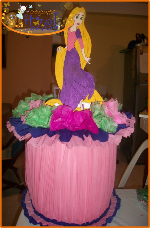Imagenes dulceros de mesa de rapunzel - Imagui