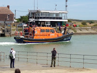 Dungeness RNLB 13-02 'The Morrell' at Rye Harbour RNLI Lifeboat Station Open Weekend
