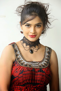 Madhumita in Lovely Red and Black Sleeveless Gown Stunning Beauty Mus tSee