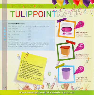 Point Reward Tulipware 2014, Baby Feeding Set, Small Square & Fun, Large Handy Jar