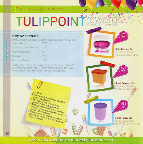 Point Reward Twin Tulipware | Januari - Februari 2014