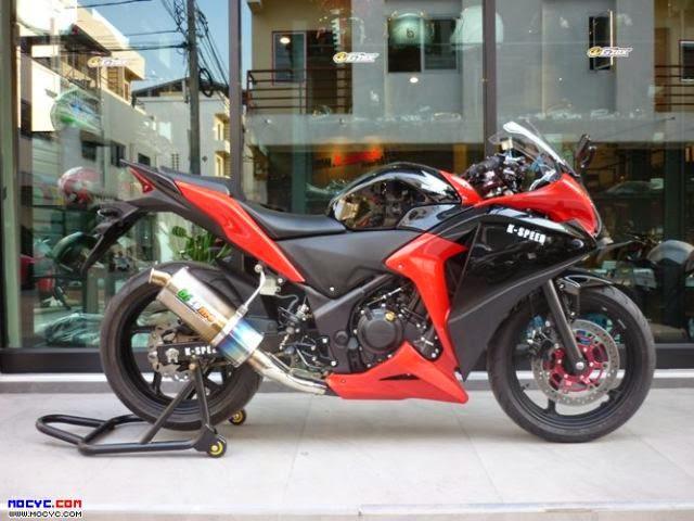 Modifikasi Motor honda CBr 250 Hitam 2014