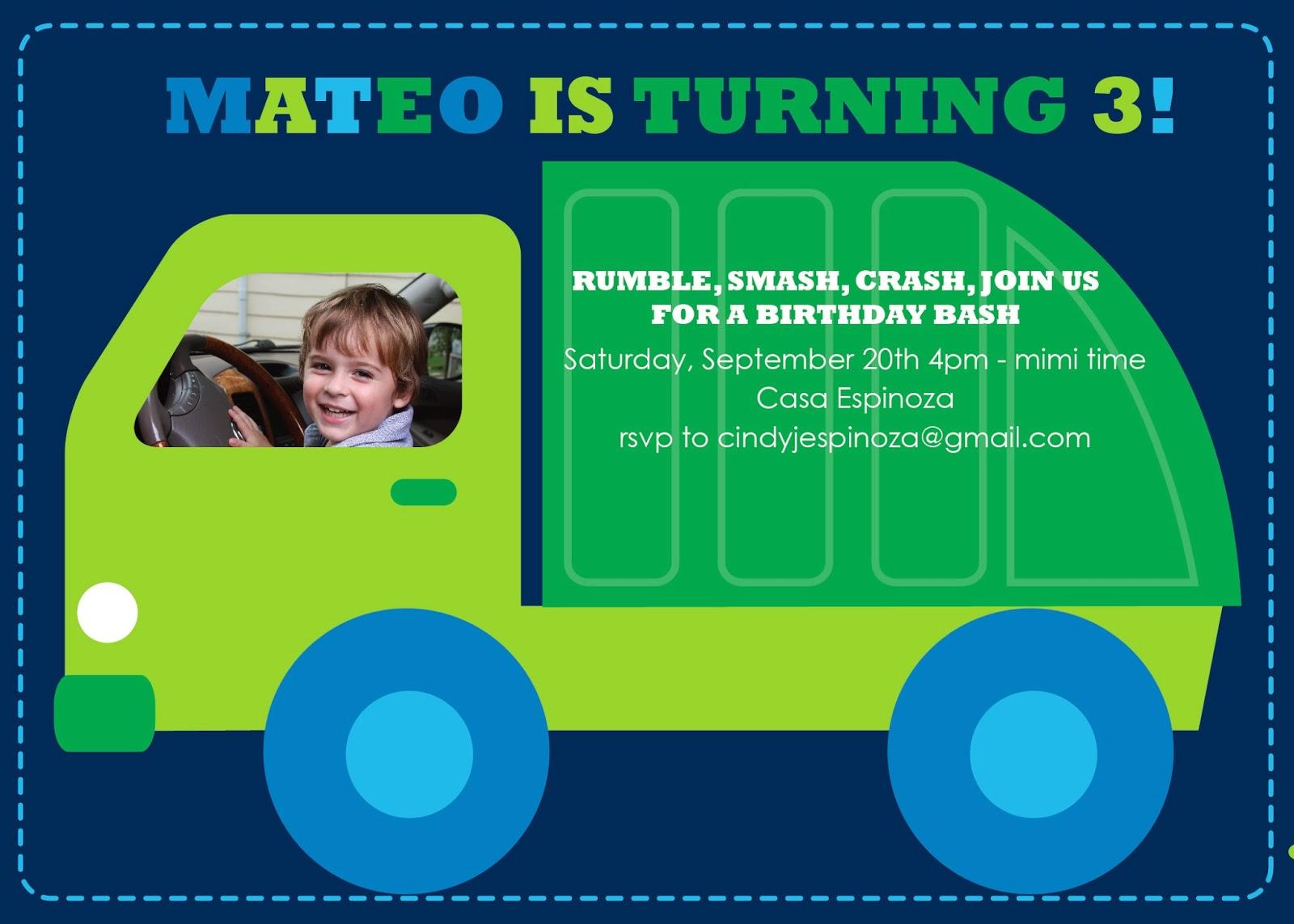 Viva cindy mateos garbage truck birthday mateos garbage truck birthday filmwisefo