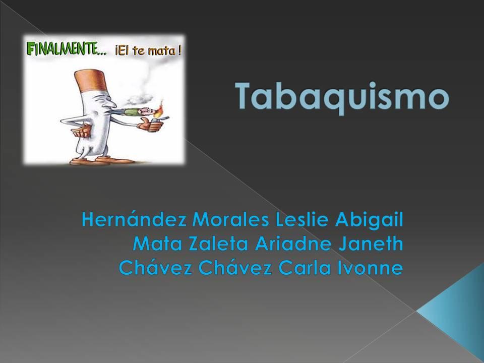 aRii Zaleeta!: diapositivas tabaquismo