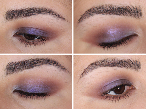 sleek vintage romance palette makeup look