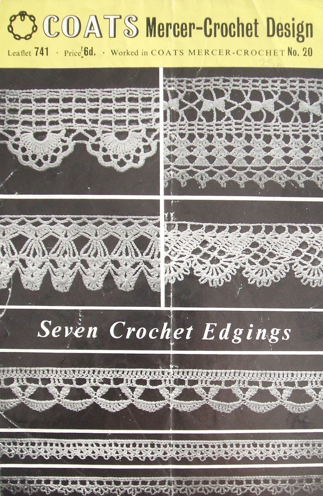 Crochet Patterns Edges : Buttons and bobbins: Free Pattern Fortnightly: Seven crochet edgings
