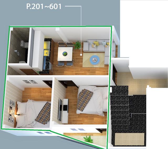 Căn hộ số 201-601 thuộc tòa chung cư Nhật Tảo 7 giá rẻ