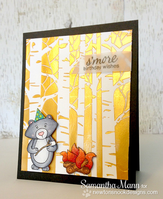 Campfire Birthday Bear card with Samantha Mann | Newton's Nook Designs