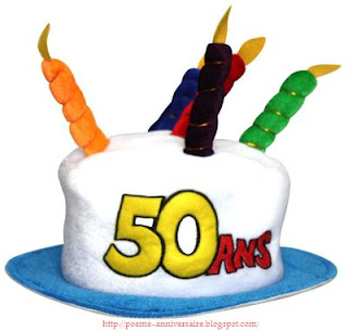 Poème d'anniversaire de 50 ans