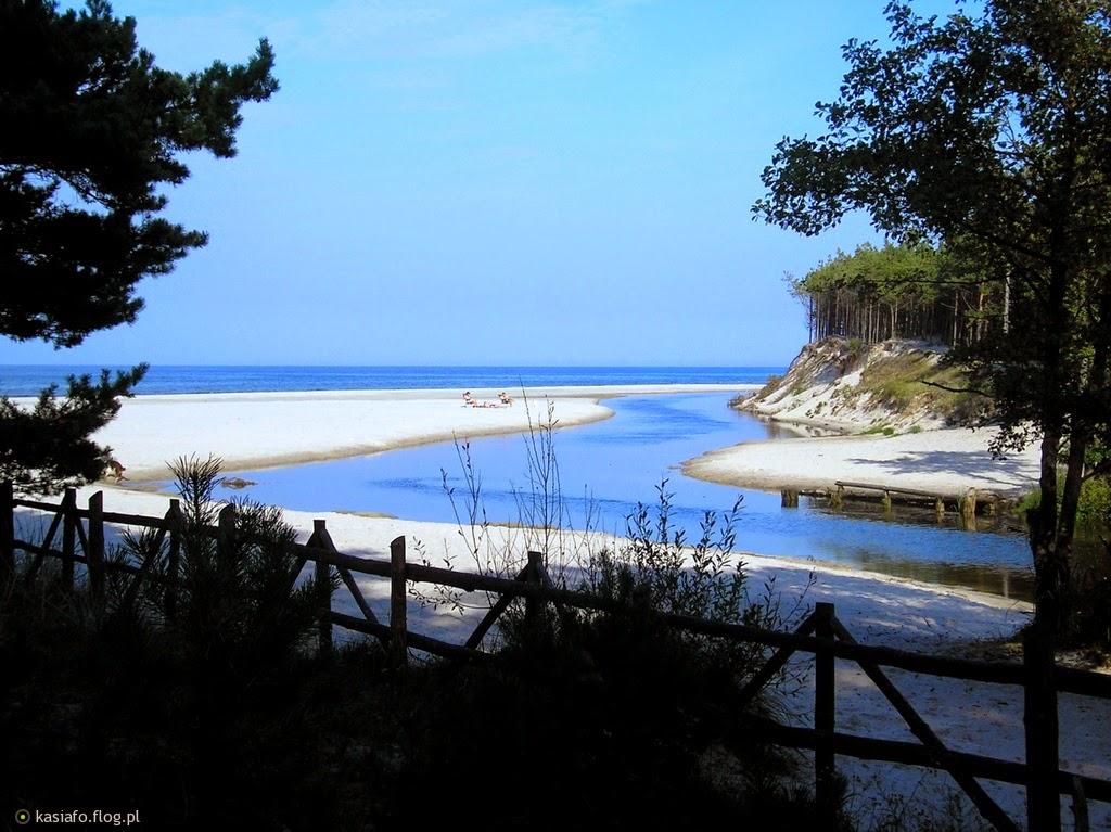 plaża,Dębki,piaśnica,rzeka,morze