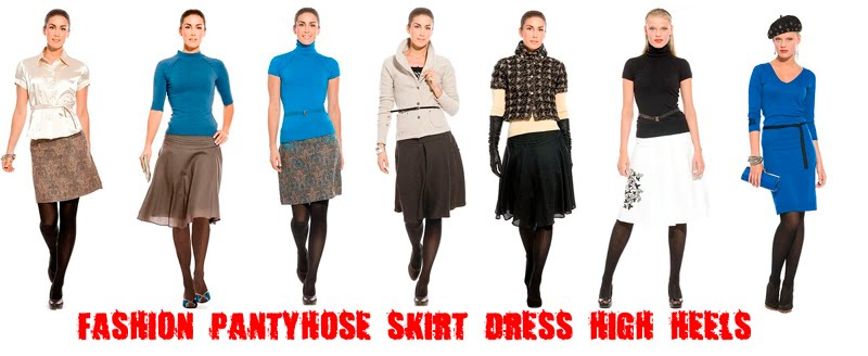fashion tights skirt dress heels 