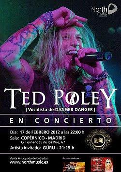 Ted Poley en concierto en Madrid en Febrero