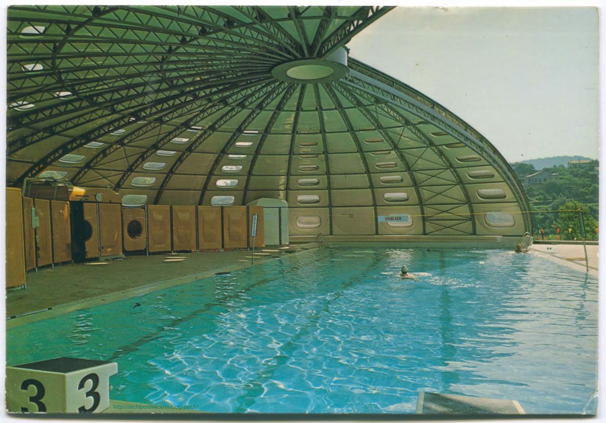 Architectures de cartes postales 2 pisicines tournesol for Piscine tournesol