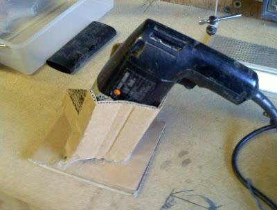 cardboard drill holder